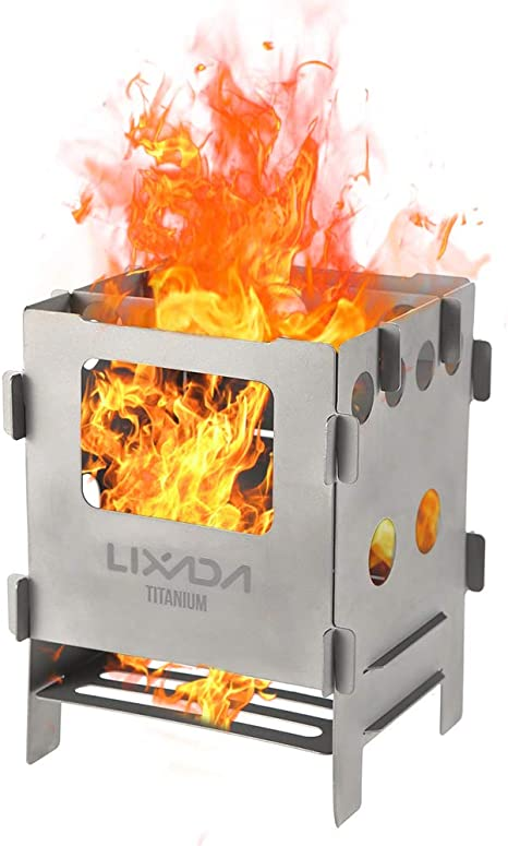 Lixada Camping Stove//Barbecue Grill Portable Stainless Steel Wood Stove #2