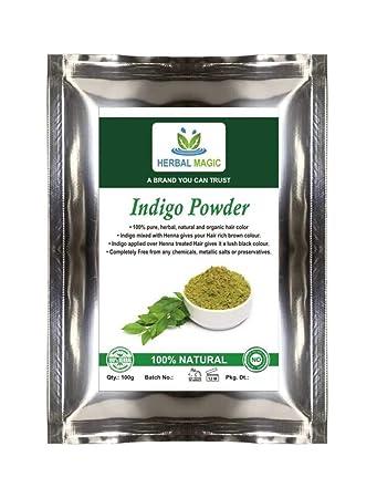 Organic Certified By Usda Indigo Black Henna Powder Herbal Hair