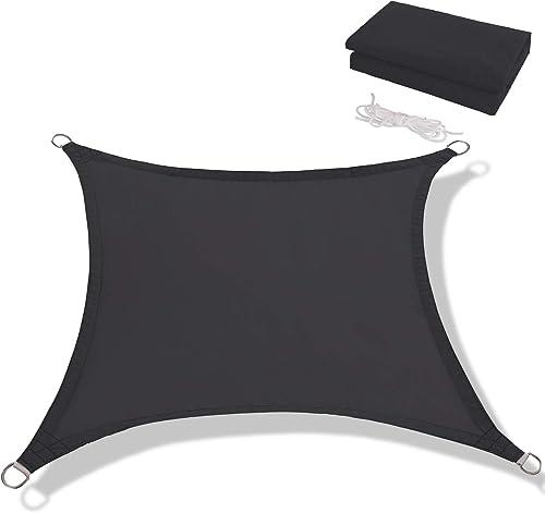 Anecoul Sun Shade Sail Waterproof Rectangle 13' x 20' Shade Sails 95 UV Blocker Sunshade Patio Carport Awning