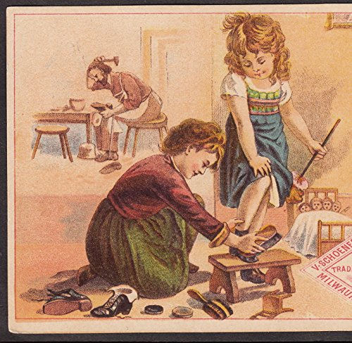 schoenecker-shoe-brush-boot-milwaukee-wi-antique-doll-furniture-advertising-card