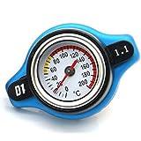 Hemore - Tapón para radiador de Coche DE 0,9 Bar 1,1 Bar + medidor de Temperatura del Agua para Coche