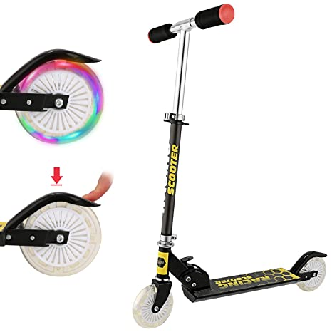 Miageek Foldable Adult Teens Kick Scooter - Portable 2-Wheel Push Urban Scooters, Commuter Scooters, City Scooters with Adjustable Handlebars|Dual ...