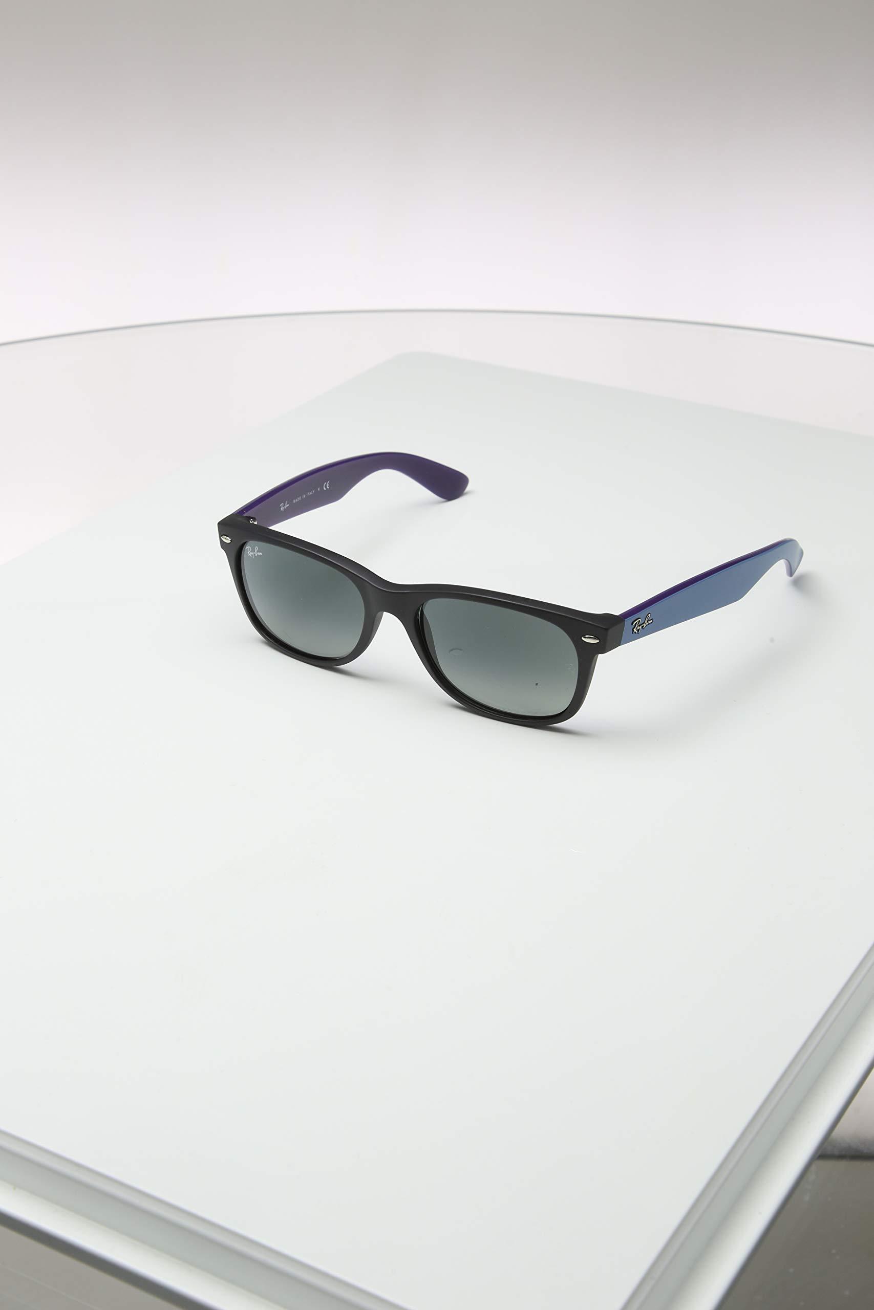 Ray-Ban RB2132 New Wayfarer Sunglasses, Matte Black/Grey Gradient, 55 mm by Ray-Ban