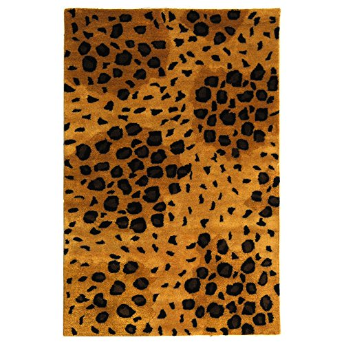 (Safavieh Soho Collection SOH715A Handmade Gold and Black Premium Wool Area Rug (3'6