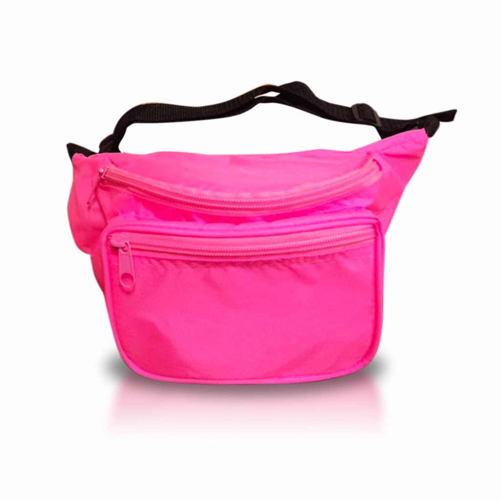 Pink Fanny Pack - Water Resistant, Great for Festivals, Multiple Sizes