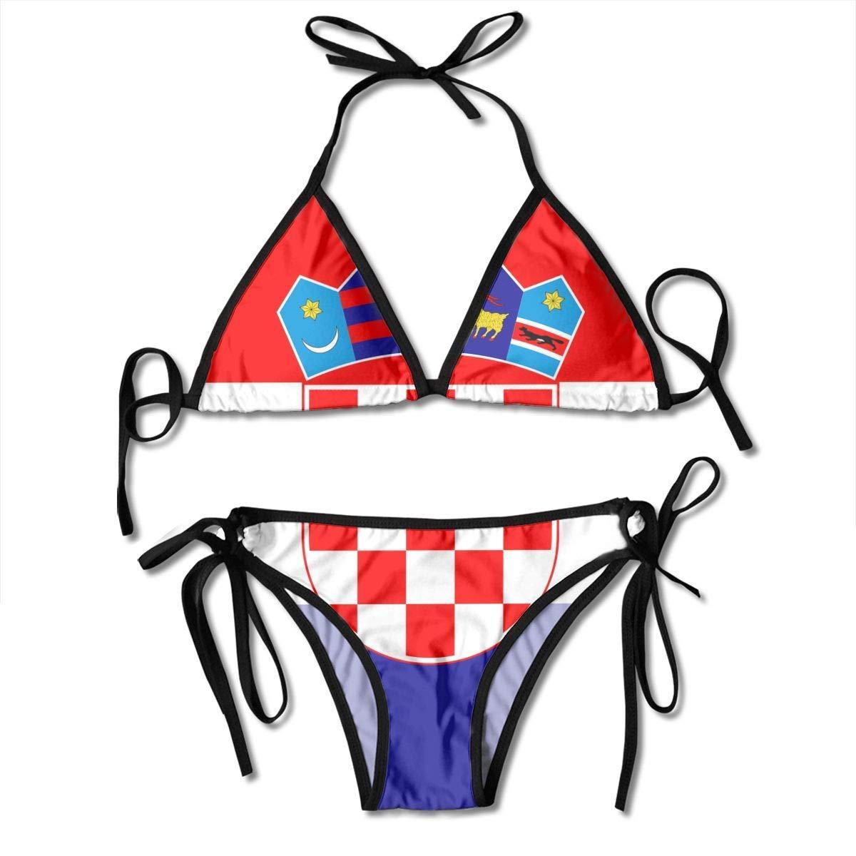 Bandera de Croacia Traje de baño Sexy de Dos Piezas para Mujer ...