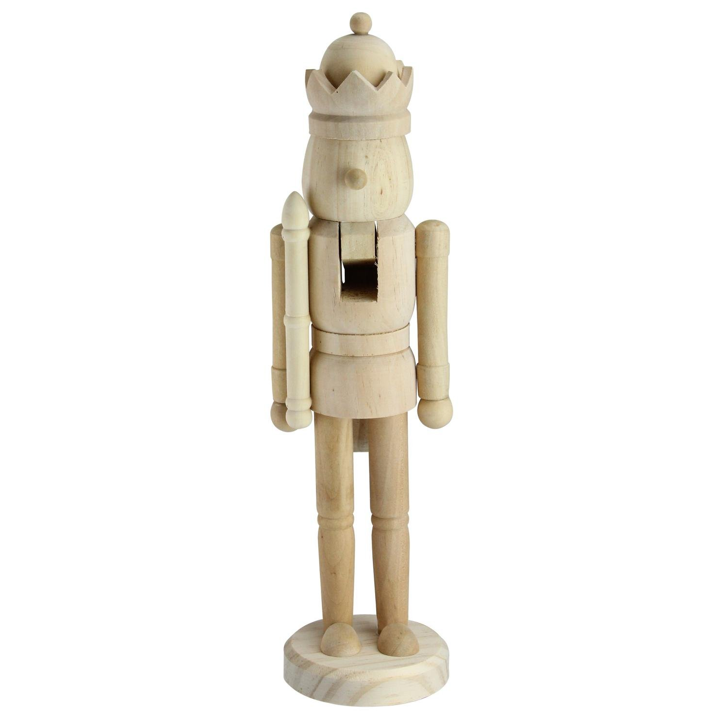 Northlight 14.5'' Traditional Unfinished Wood Paintable Nutcracker