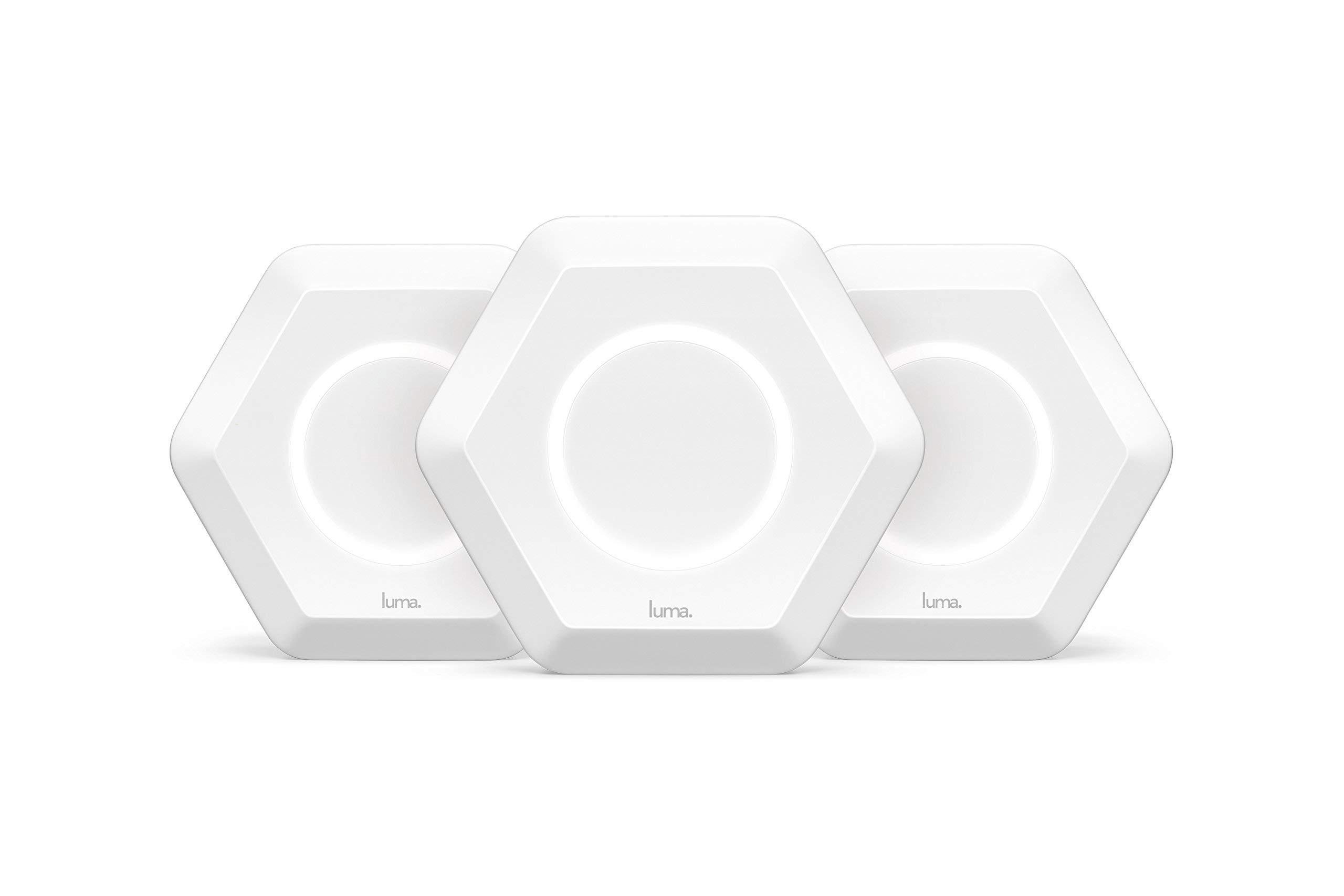 Luma Whole Home Wireless Router 3 Pack - Replaces Wi-Fi Extenders Routers, Free Virus Blocking, Free Parental Controls, Gigabit Speed, Dual Band, White (Renewed) by Luma