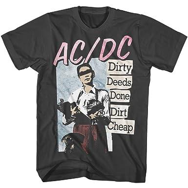 a9f957921a Amazon.com: A&E Designs AC/DC Shirt Dirty Deeds Done Dirt Cheap T ...