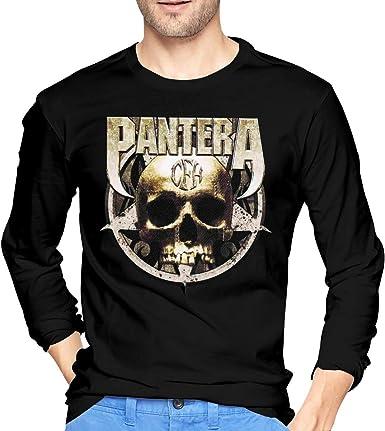 Camisetas de Manga Larga, Hombre, Camisas Casual, Ropa Deportiva, Mens Pantera-Cowboys from Hell Skull Sticker Long Sleeve T-Shirt Black: Amazon.es: Ropa y accesorios