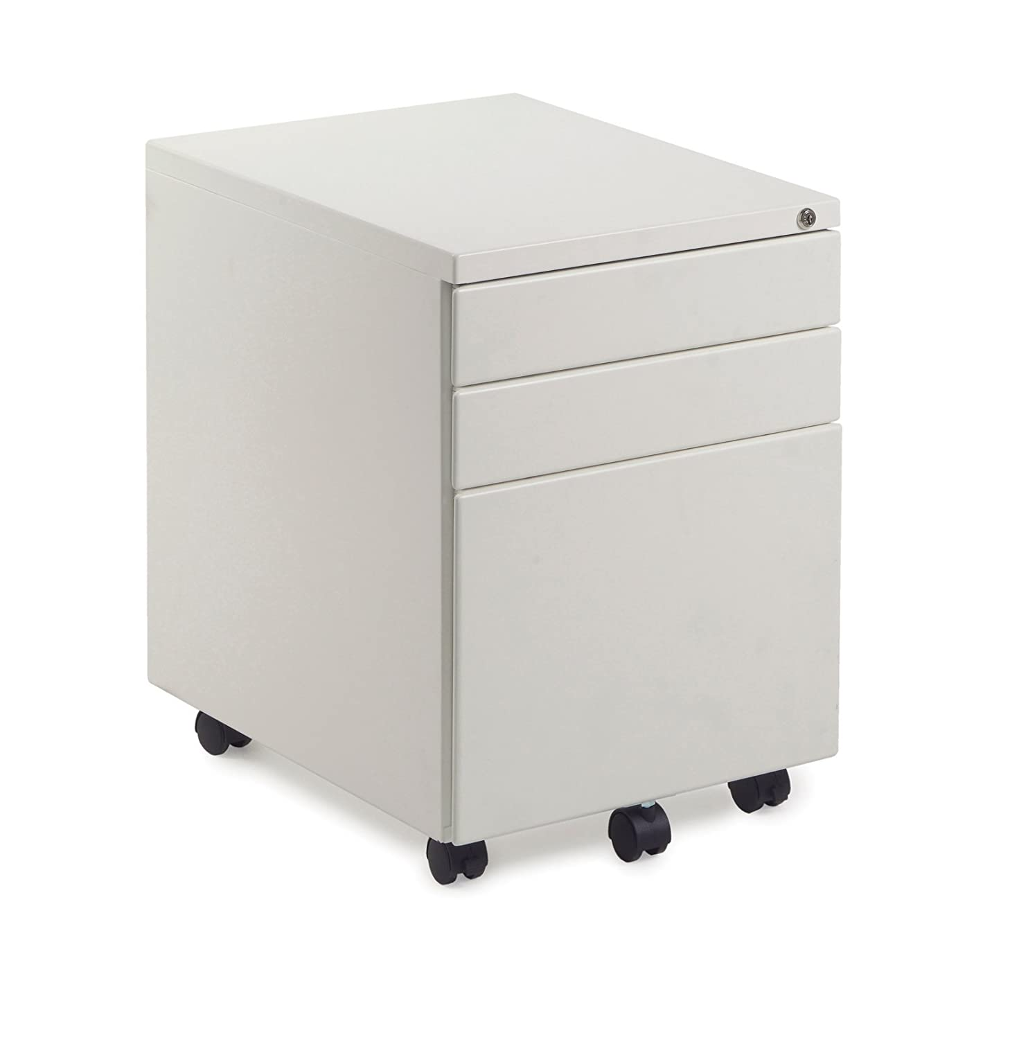 Dams Metal 3 Drawer Ped In White