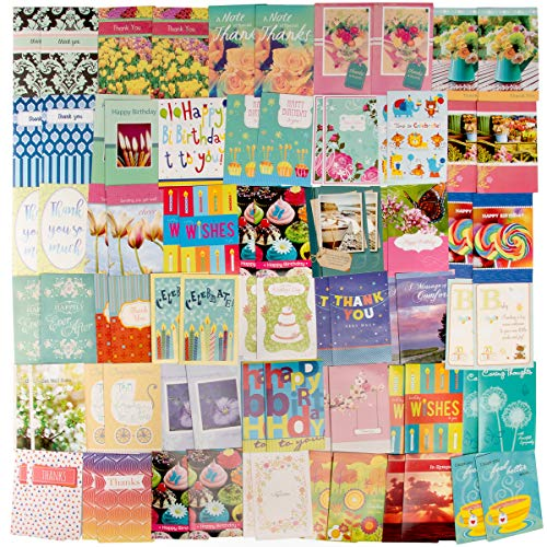 Paper Craft (80 Count) Assorted Variety Boxed All Occasion Greeting Cards With Envelopes Birthday Get Well Sympathy Thank You Cards (Wholesale Christian Christmas Cards)