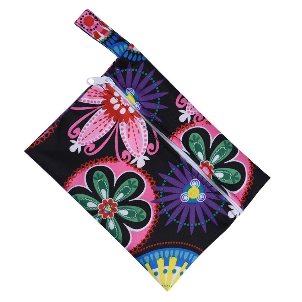 Washable Wet Bag, SANNYSIS Reusable Sanitary Pad Menstrual Sanitary Aunt Bag (Multicolor)