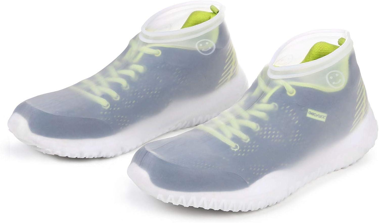 Vicloon Couvre-Chaussures Couvre Chaussures Imperm/éables Couvre-Chaussures en Silicone R/éutilisables avec Semelle Renforc/ée Antid/érapante pour Les Jours Pluvieux et Neigeux