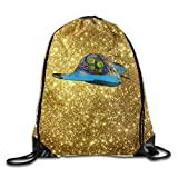 Aliens In Spaceship Girls Canvas Bag Canvas Gym Bag Sports Bag