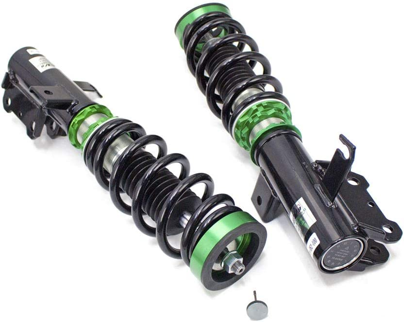 Rev9 R9-HS2-100 Hyper-Street II Coilover Suspension Lowering Kit compatible with Chevrolet Malibu 2013-15 Mono-Tube Shock w// 32 Click Rebound Setting Full Length Adjustable