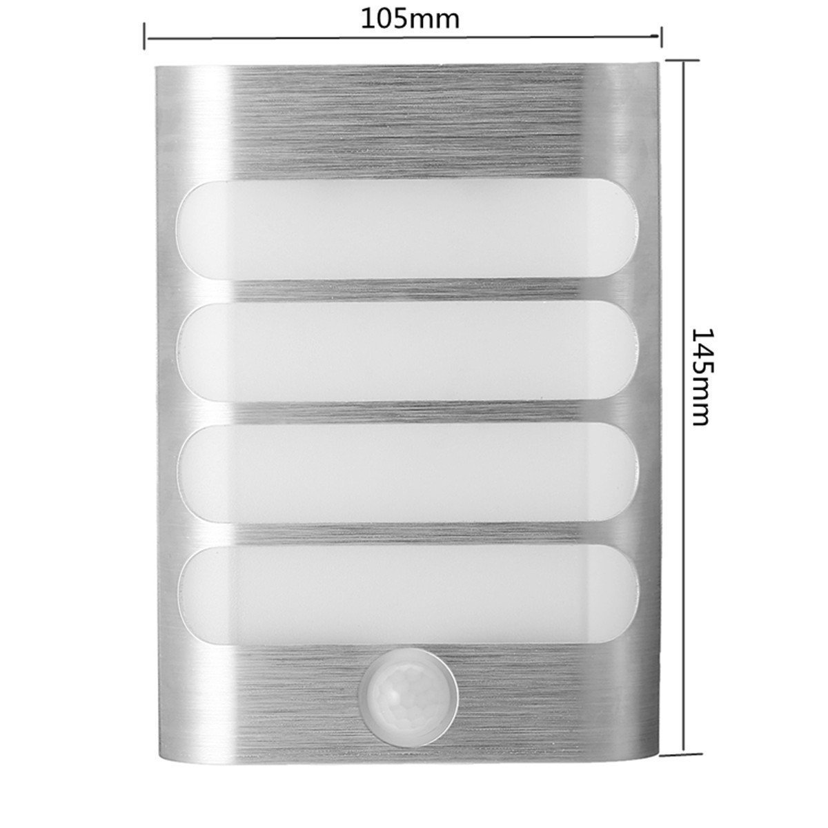 OWIKAR Motion Sensor Activated LED Wall Light, Aluminum Stick Anywhere Bright LED Wall Sconce Night Light Battery Operated, Auto On/Off for Hallway, Closet, Pathway, Staircase, Garden (Warm White)