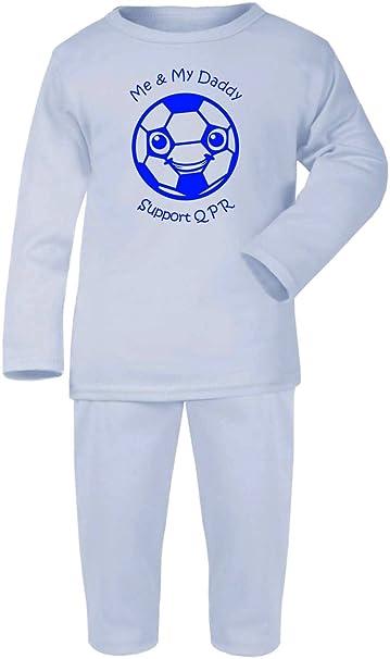 tripleta Designs Queens Park Rangers Fútbol Baby – Juego de pijama PJ pijama /sleepwear-