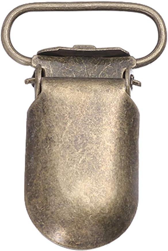 SUPVOX 25 St/ück Metall Schnuller Hosentr/äger Clips Bulk Bronze Bib Clips zum N/ähen Handwerk