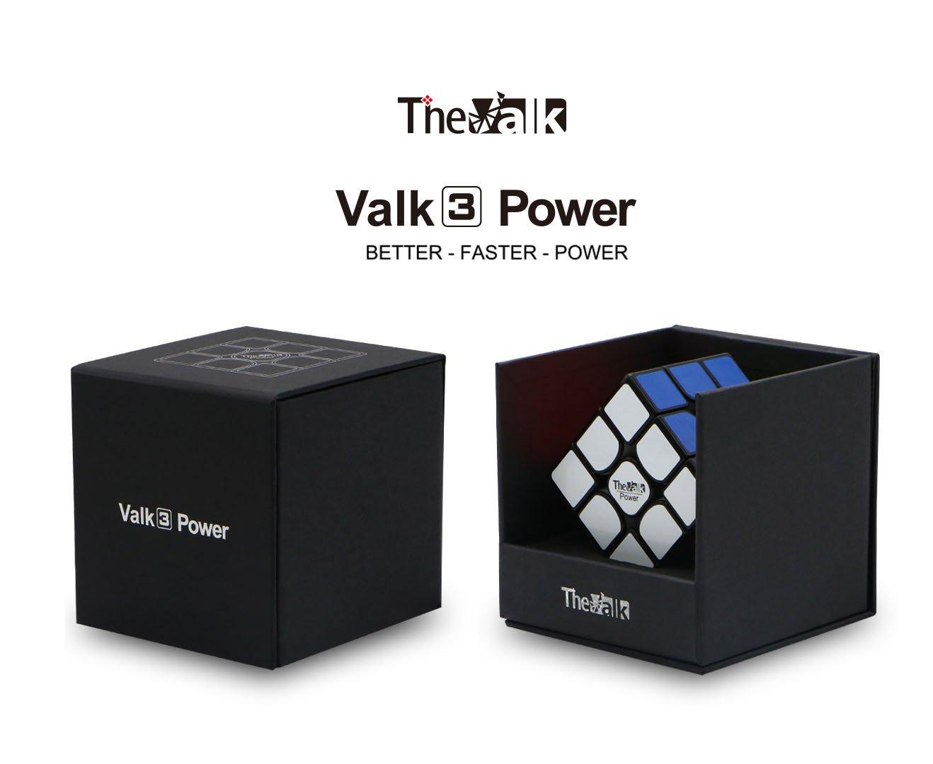 OJIN QiYi VALK 3 Power Valk3 Power Magic Cube 3x3x3 Smooth Puzzle Magic Cube con One Cube Tripod y One Cube Bag Sin Etiquetas