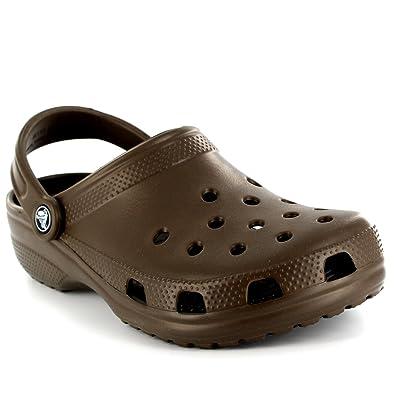 Crocs Womens Classic AKA Cay Clogs Casual Beach Summer Sandals Shoes -  Chocolate - W7 13cbf8c446