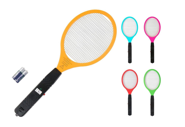 keine Angabe Elektrische Fliegenklatsche 50cm inkl. Batterien Insektenvernichter Mü ckentö ter, Farbe:grü n