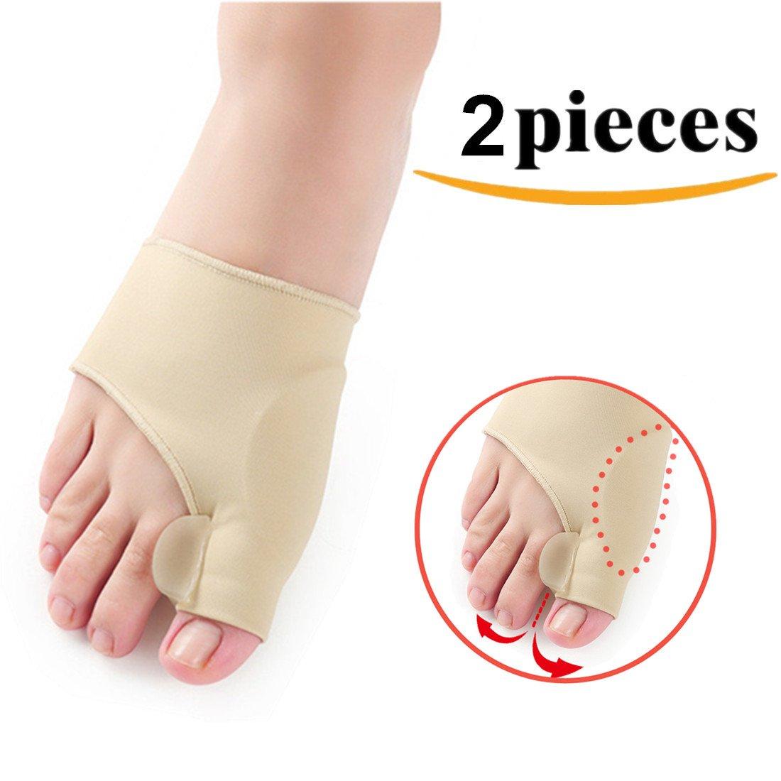 Kalevel Toe Separators Pedicure Bunion Corrector Night Time Bunion Regulator Bunion Splint for Left Foot Right Foot Pack of 2pcs