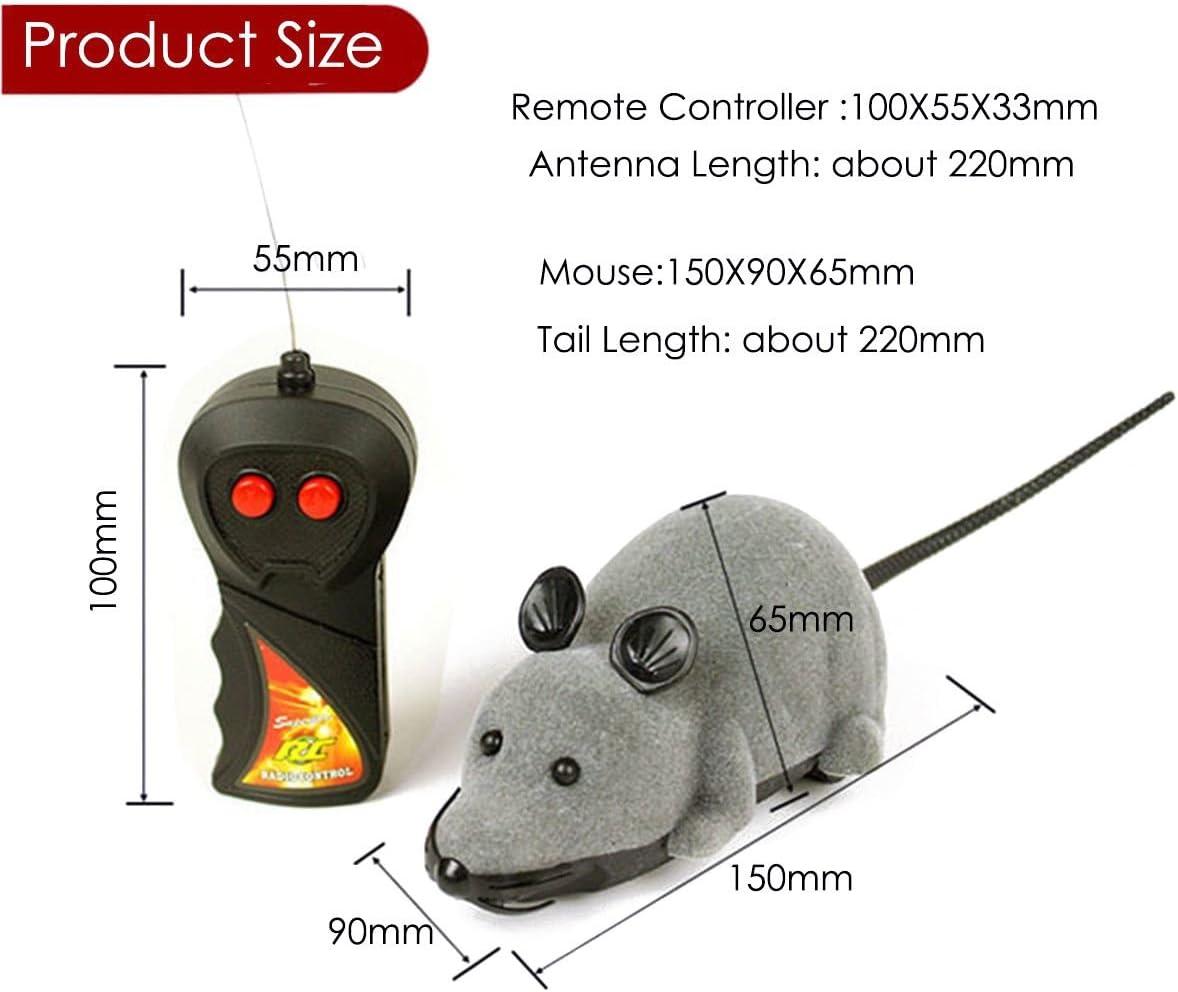 Giocattolo del Mouse del Topo telecomandato per Il Giocattolo Realistico del Topo di RC del Gatto dei Bambini dellanimale Domestico del Regalo del Giocattolo del Gatto micio Color : Brown+Black
