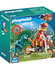 Playmobil-9431 Moto con Velociraptor, (9431)