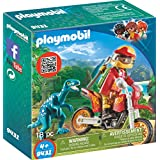 PLAYMOBIL® Motocross Bike with Raptor Building Set
