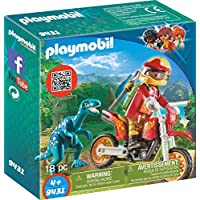 PLAYMOBIL® Motocross Bike with Raptor Building Set