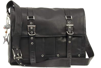 a4f56eafde37c Catwalk Collection Handbags - Leder - Schultasche Organizer Arbeitstasche Aktentasche  für Damen -