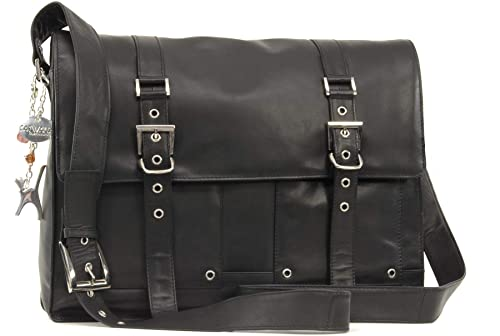 32f3ef2e0092 Catwalk Collection Handbags - Ladies Leather Messenger Cross Body Bag - Women s  Organiser Work Bag -