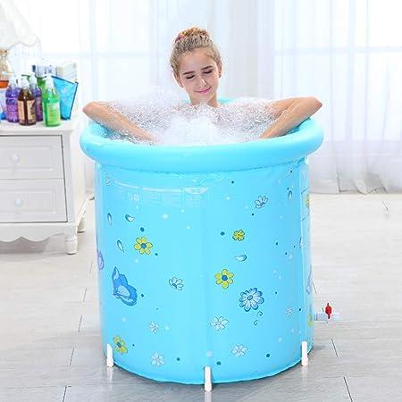 Baignoire Gonflable Pour Adultes Baignoire Pliante Baignoire Baignoire en Plastique Couleur Bleu