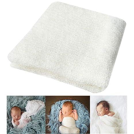 Bassion Newborn Photography Props Newborn Wraps Baby Props Photo Blanket Grey 16 x 60 PRO-031-4