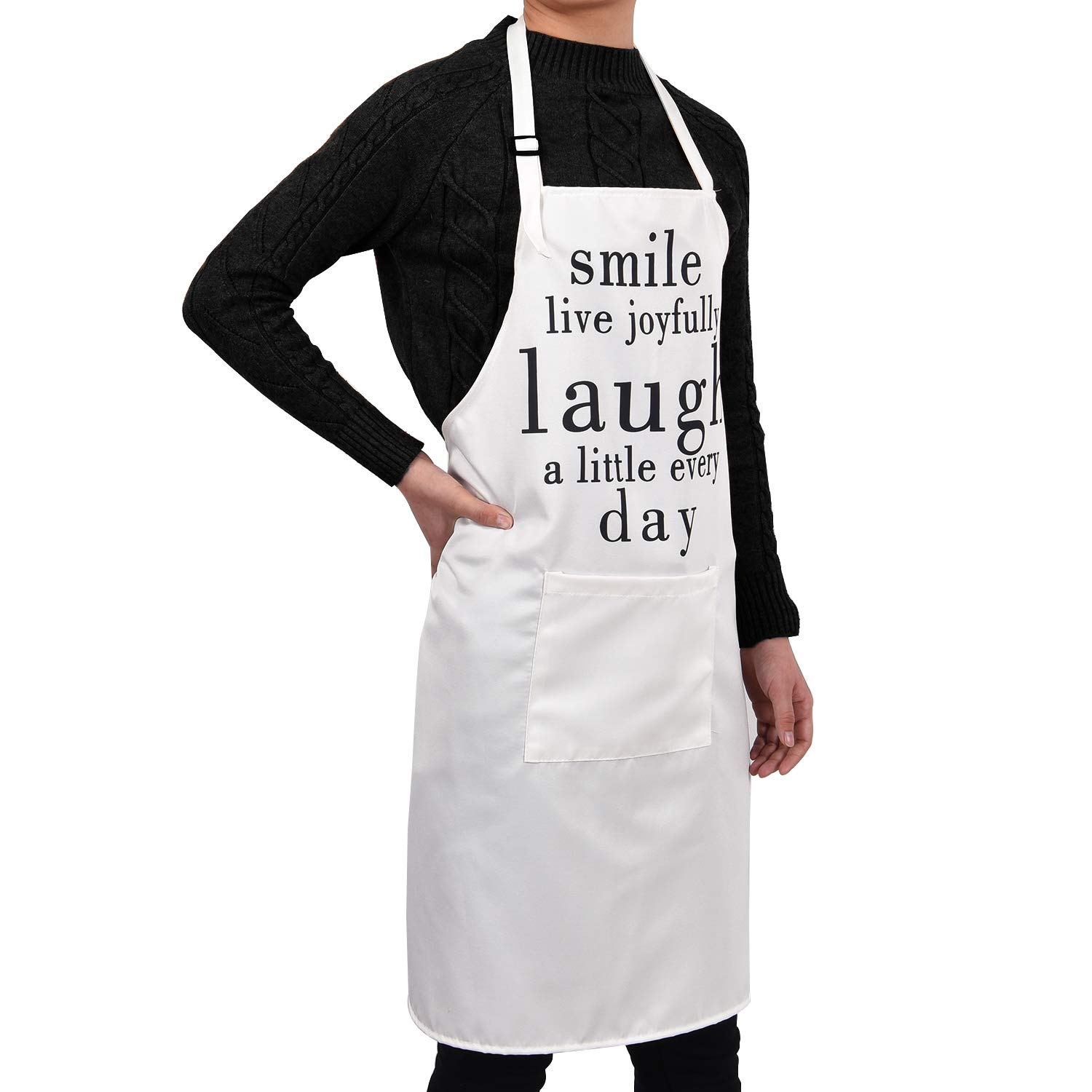 Claswcalor Flowers on Bicycles Cooking Aprons with Pocket Life is a Beautiful Ride Kitchen Aprons Waterproof Adjustable Baking Aprons for Women