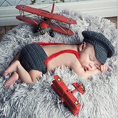 aierwish S/ü/ß Baby Kleinkind Strick M/ütze Neugeborene Fotografie Kost/üm Karikatur H/äkeln Beanie Hut Kleidung f/ür Jungen und M/ädchen von SamGreatWorld