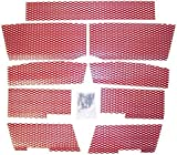 SCREEN KIT POLARIS RED, Manufacturer: DUDECK, Manufacturer Part Number: P3-RED-AD, Stock Photo - Actual parts may vary.
