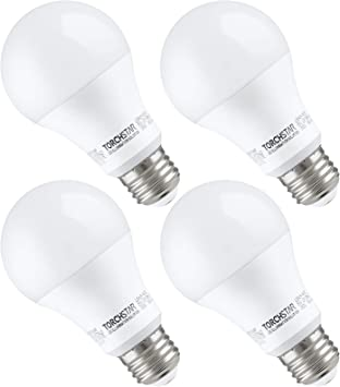 Torchstar 100w Equivalent Led Garage Door Opener Light Bulb 1500 Lumens A19 Ultra Bright 3000k Warm White Shock Resistant Minimize Interference 15 Watt Ul Listed E26 Base Pack Of 4 Led Bulbs Amazon Canada