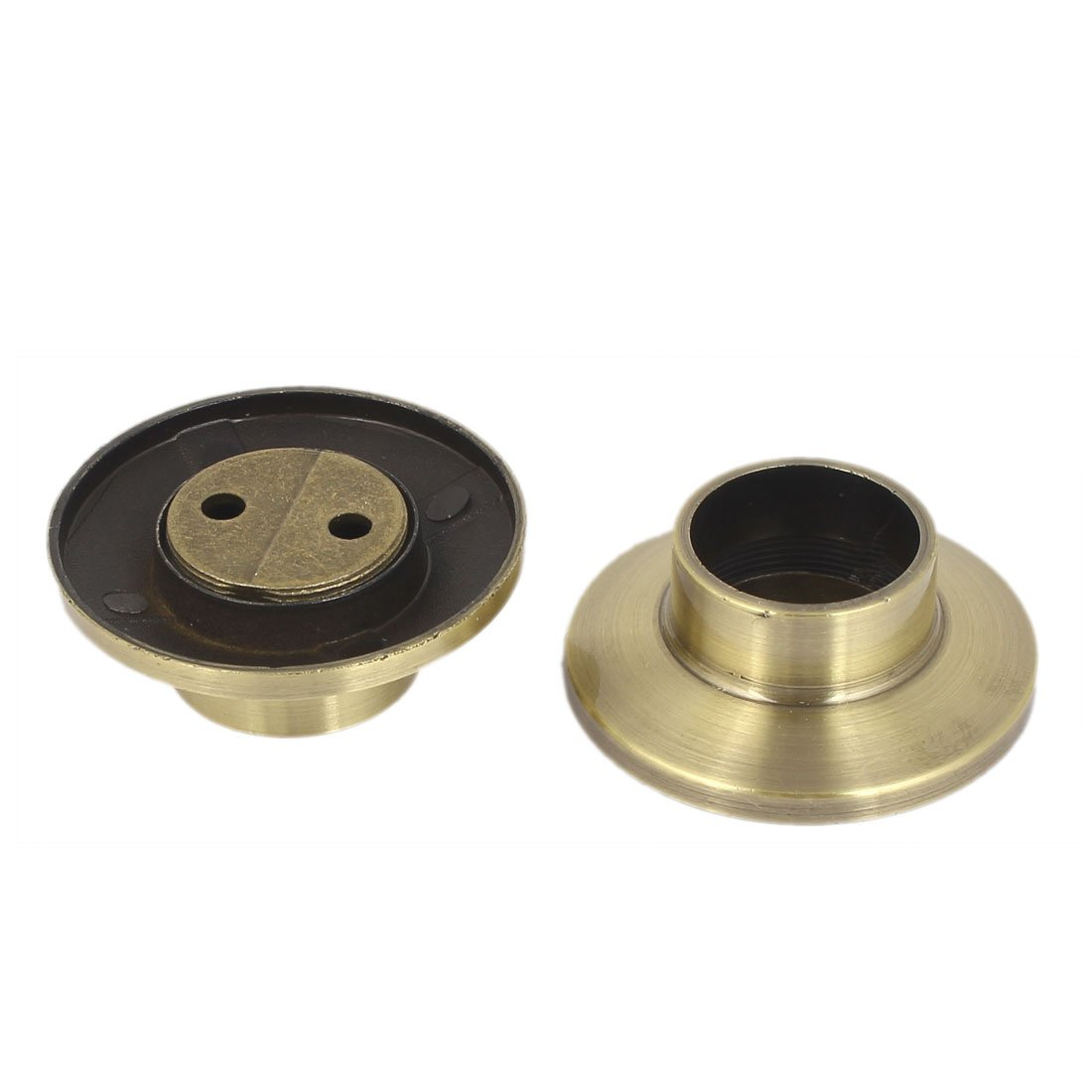 uxcell Metal Wardrobe Hanging Rail Rod End Support Bracket Socket Bronze Tone 2pcs by uxcell