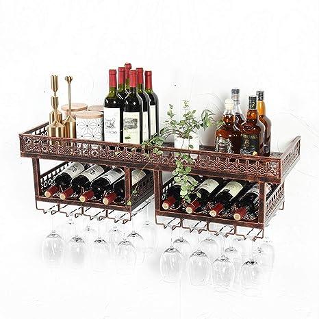 Copa de Vino en Rack Soporte de Vaso de Vino montado en la Pared Porta Vino