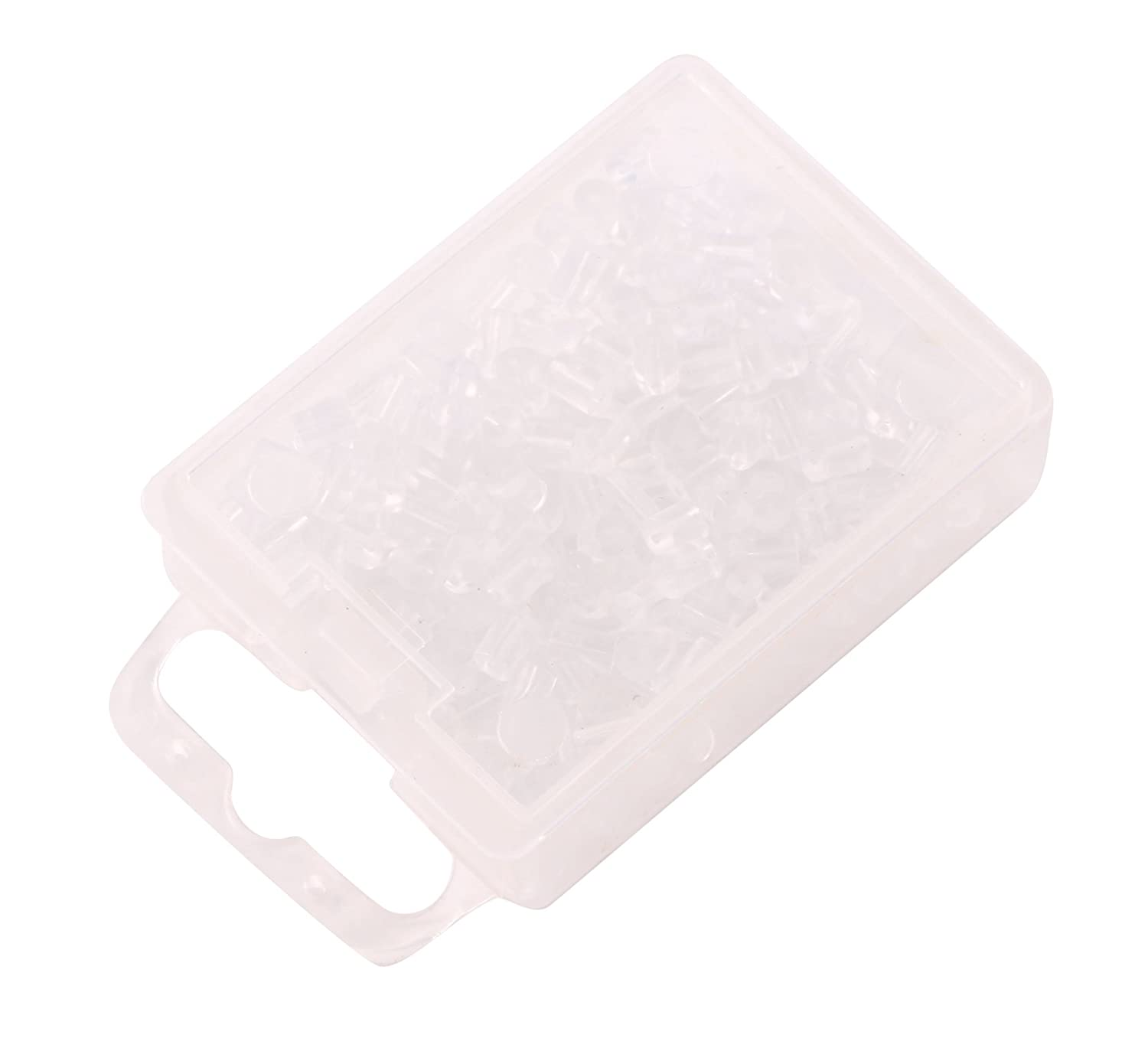 Shapenty 200PCS//100Pairs Clear Color Plastic Rubber Earring Safety Back Stopper Replacement for Fish Hook Earring Tube Shape