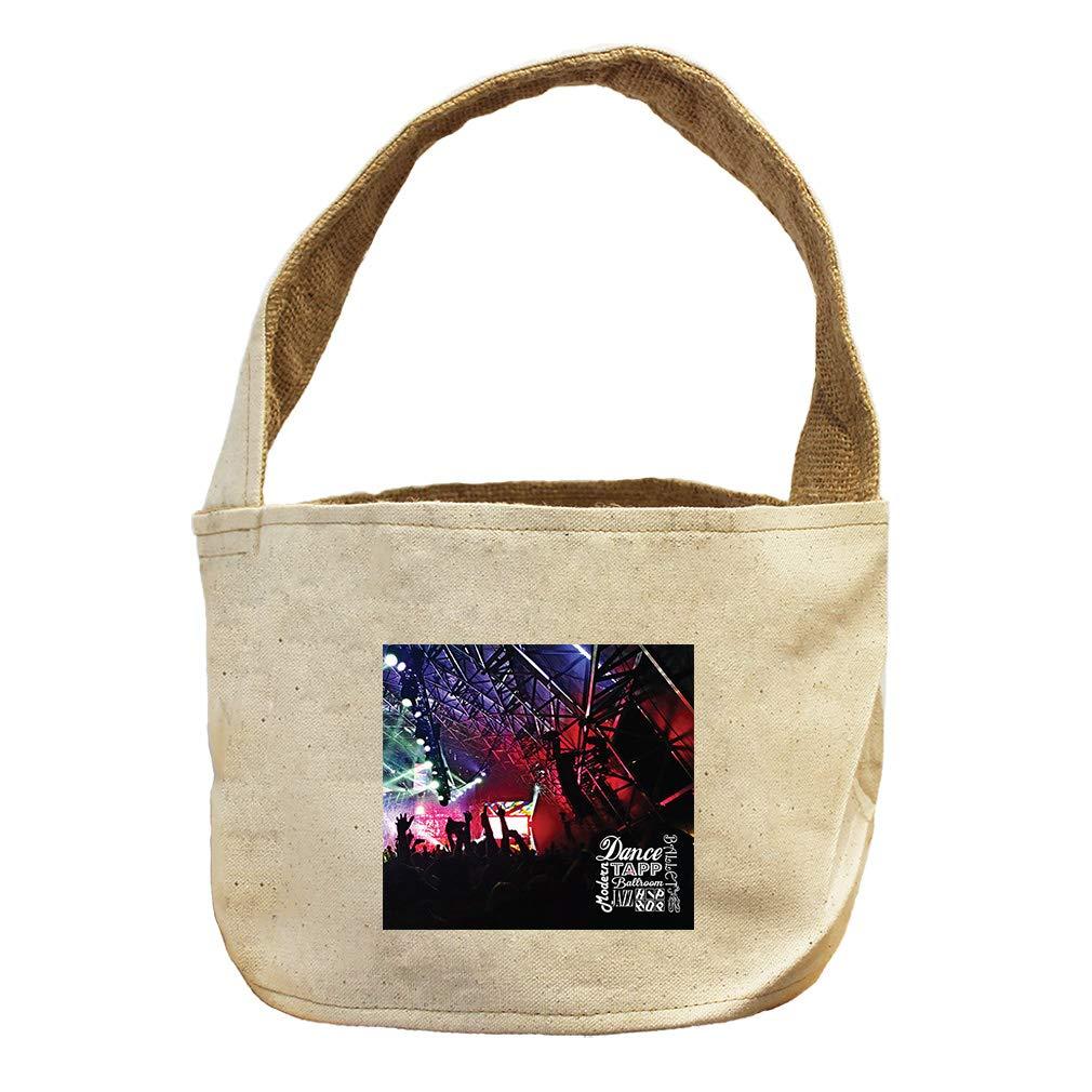 Style in Print Dance Tapp Modern Jazz Hip HOP Ballet Canvas and Burlap Storage Basket