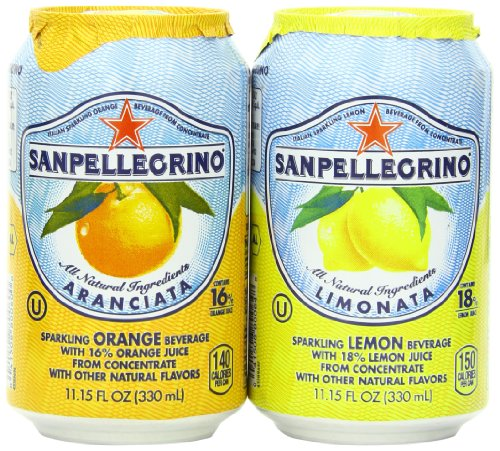 (San pellegrino Sparkling Beverage,  Lemon, Orange Variety, 11.15 fl. oz., 24 Count)