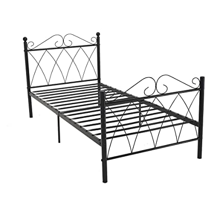Tremendous Pananahome 3Ft Single Metal Bed Frame With Headboard And Footboard Kids Children Beds Bedroom Black Onthecornerstone Fun Painted Chair Ideas Images Onthecornerstoneorg
