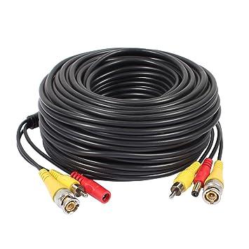 Sourcingmap® 30M BNC+RCA+DC Cable de Audio Video de Todo-en-uno Cable de energía Cable para la cámara del CCTV de la Seguridad: Amazon.es: Electrónica