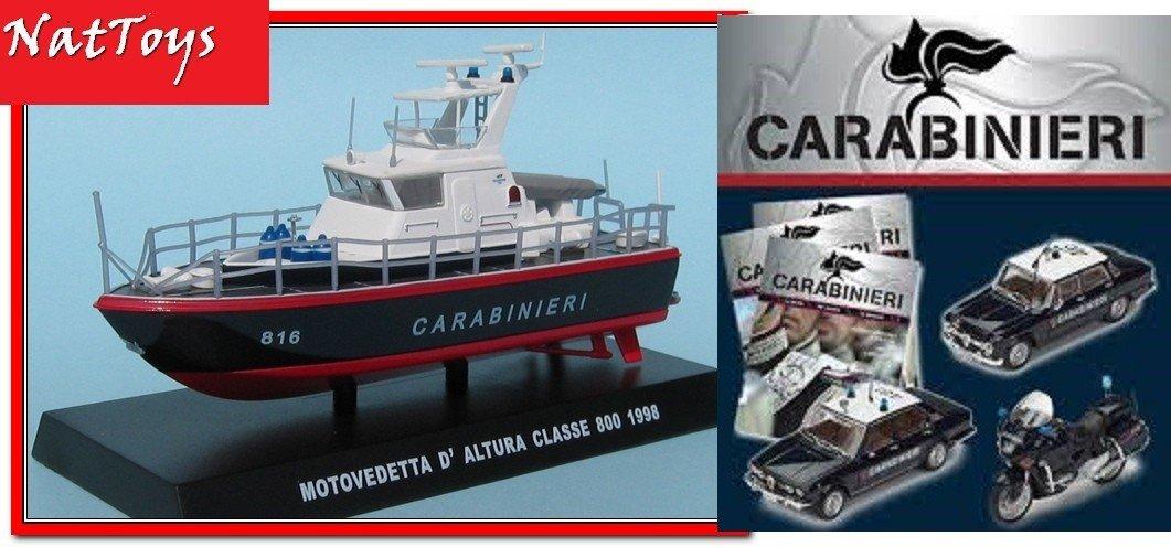 fas.16 Carabinieri Motovedetta daltura classe 800 1998 1:43 Die Cast Model