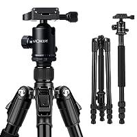 Treppiede Reflex K&F Concept TM2534 Cavalletto Fotografico Professionale Portatible Universale Alluminio Testa a Sfera con Borsa 162cm Reflex DSLR Canon Nikon