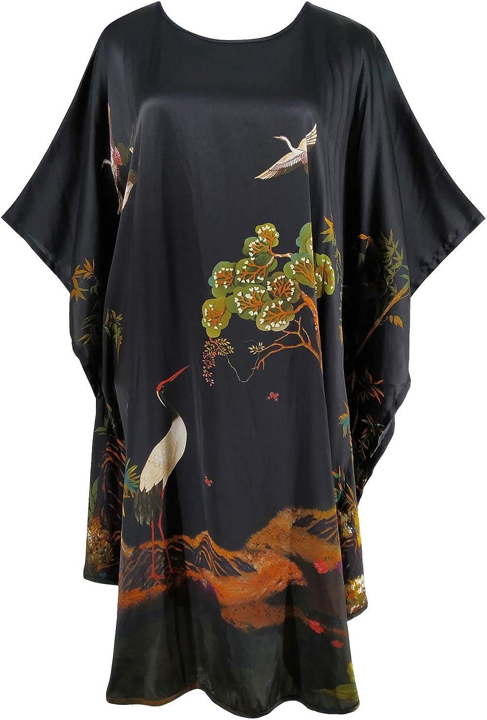 Womens 19mm 100/% Silk Nightdress Bath Robe Sleepwear Nighties Shirts Size S-7XL