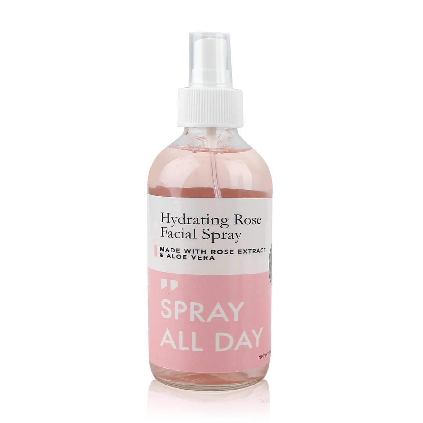 Rose Facial Mist Spray (240ml) - Hydrating & Moisturizing - Setting Spray to Freshen Skin & Makeup - Glass Bottle Grace & Stella